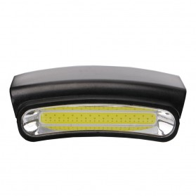 TaffLED  Senter Clip-on Topi Headlamp Cap LED COB M1800 - Black - 5
