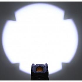 TaffLED  Senter LED Tactical Self Defense Police Cree XM-L T6 2000 Lumens - WY6112 - Black - 6