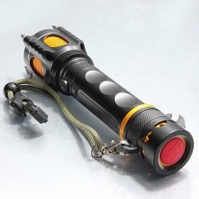 TaffLED  Senter LED Tactical Self Defense Police Cree XM-L T6 2000 Lumens - WY6112 - Black - 8
