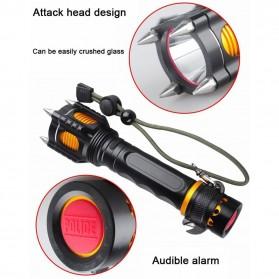 TaffLED  Senter LED Tactical Self Defense Police Cree XM-L T6 2000 Lumens - WY6112 - Black - 9