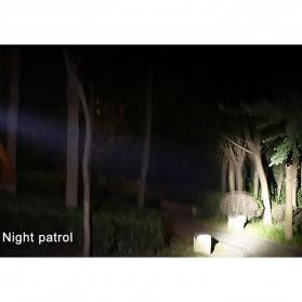 TaffLED Headlamp Flashlight Headlight LED 4 Modes 1 XML-T6 + 2 COB  - EG7448 - Black/Red - 7
