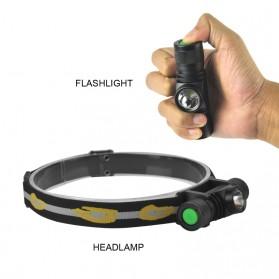BORUIT Senter Kepala Headlamp Flashlight Headlight LED XML L2 - EHL0628 - Black - 2