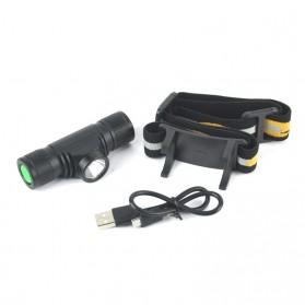 BORUIT Senter Kepala Headlamp Flashlight Headlight LED XML L2 - EHL0628 - Black - 3