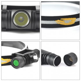 BORUIT Senter Kepala Headlamp Flashlight Headlight LED XML L2 - EHL0628 - Black - 7
