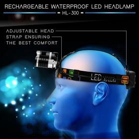 TaffLED Senter Headlamp Headlight 3 LED Cree Rotateable XM-L T6 10000 Lumens - AHT405 - Black - 2