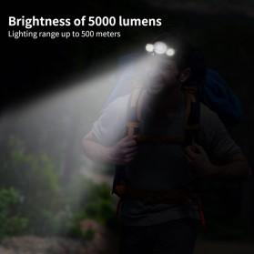 TaffLED Senter Headlamp Headlight 3 LED Cree Rotateable XM-L T6 10000 Lumens - AHT405 - Black - 9