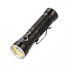Pocketman Senter LED Rotatable Head Magnetic Tail Cree T6+COB 6000 Lumens - 3188 - Black - 4