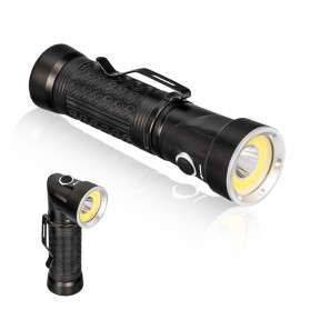 Pocketman Senter LED Rotatable Head Magnetic Tail Cree T6+COB 6000 Lumens - 3188 - Black - 6