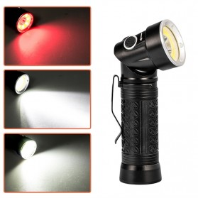 Pocketman Senter LED Rotatable Head Magnetic Tail Cree T6+COB 6000 Lumens - 3188 - Black - 8