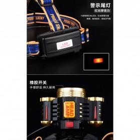 Albinaly Senter Headlamp Light Cree XM-L T6 + 2 LED - TG-T006 - Black - 10