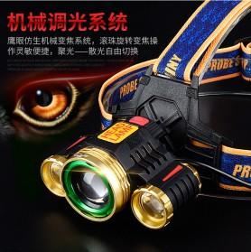 Albinaly Senter Headlamp Light Cree XM-L T6 + 2 LED - TG-T006 - Black - 2