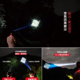 Albinaly Senter Headlamp Light Cree XM-L T6 + 2 LED - TG-T006 - Black - 7