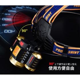 Albinaly Senter Headlamp Light Cree XM-L T6 + 2 LED - TG-T006 - Black - 9