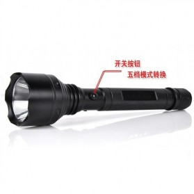 Probe Shiny Senter LED Self Defense Cree T6 + Charger + Baterai - TG-S152 - Black - 4