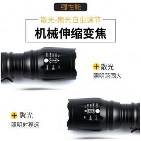 TaffLED Albinaly Senter LED Mini Cree XM-L T6 - TG-S142 - Black - 8
