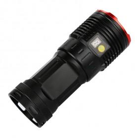 Supwildfire Senter LED Super Bright 12 x Cree XM-L T6 35000 Lumens - 12T6 - Black - 3