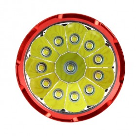 Supwildfire Senter LED Super Bright 12 x Cree XM-L T6 35000 Lumens - 12T6 - Black - 4