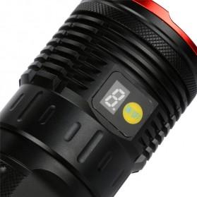 Supwildfire Senter LED Super Bright 12 x Cree XM-L T6 35000 Lumens - 12T6 - Black - 7