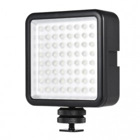 Fasdga Flash Led 64 Panel Light Portable Mini Video Lighting For Canon Nikon Sony A7 - Black - 1