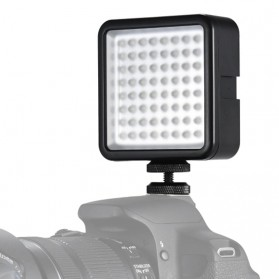 Fasdga Flash Led 64 Panel Light Portable Mini Video Lighting For Canon Nikon Sony A7 - Black - 2