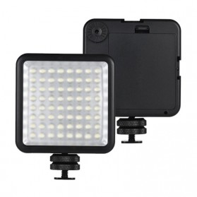 Fasdga Flash Led 64 Panel Light Portable Mini Video Lighting For Canon Nikon Sony A7 - Black - 3