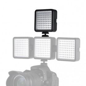 Fasdga Flash Led 64 Panel Light Portable Mini Video Lighting For Canon Nikon Sony A7 - Black - 5