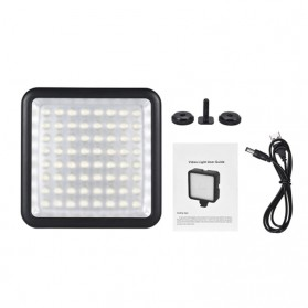 Fasdga Flash Led 64 Panel Light Portable Mini Video Lighting For Canon Nikon Sony A7 - Black - 6