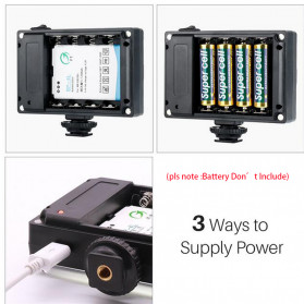 Ulanzi Fill Light Lampu Kamera Video Portable 112 LED Beads - FT112 - Black - 2