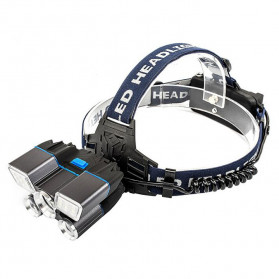 Albinaly Senter Kepala Headlamp Cree XM-L2 + 2XPE + Red Blue LED - TG-007 - Black