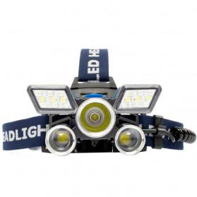 Albinaly Senter Kepala Headlamp Cree XM-L2 + 2XPE + Red Blue LED - TG-007 - Black - 2