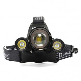 Albinaly Senter Kepala Headlamp Cree XM-L T6 + 2XPE - MT-3005 - Black - 5