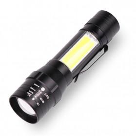 Albinaly Senter LED USB Rechargeable XML-T6 + COB - 1907 - Black - 2