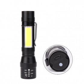Albinaly Senter LED USB Rechargeable XML-T6 + COB - 1907 - Black - 4