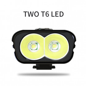 TRLIFE Lampu Sepeda Rechargeable 1200mAh LED XM-L T6 20000 Lumens - NX3 - Black - 4