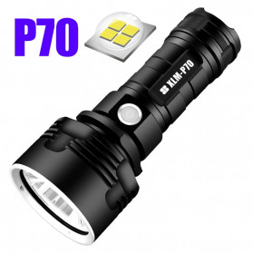 SHENYU Senter LED USB Rechargeable P70 XHP50 50W 1000 Lumens - XLMP70 - Black