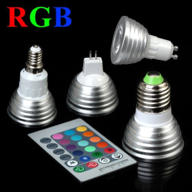 GAINLUMEN Bohlam Lampu LED RGB 3W MR16 with Remote Control - EH88 - Silver