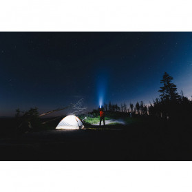 Sanyi Senter LED Camping Magnetic Light Torch USB Rechargerable T6 + COB - WY8200 - Black - 7