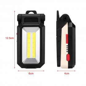 Sanyi Senter LED Camping Magnetic Light Torch USB Rechargerable T6 + COB - WY8200 - Black - 4