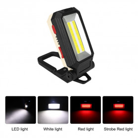 Sanyi Senter LED Camping Magnetic Light Torch USB Rechargerable T6 + COB - WY8200 - Black - 5