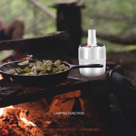 Oobest Lampu Gantung Bohlam LED Solar Panel Lamp Hanging Night Light 80W - V51 - White - 5