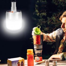Oobest Lampu Gantung Bohlam LED Solar Panel Lamp Hanging Night Light 80W - V51 - White - 6
