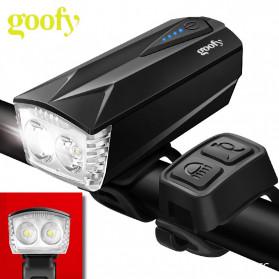 Goofy Lampu Sepeda LED USB Rechargeable Cree T6 300 Lumens dengan Klakson - DT-6105C - Black
