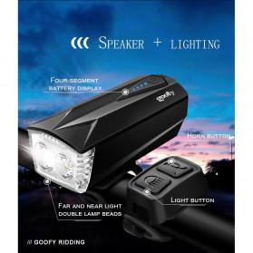 Goofy Lampu Sepeda LED USB Rechargeable Cree T6 300 Lumens dengan Klakson - DT-6105C - Black - 5