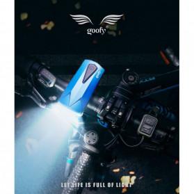 Goofy Lampu Sepeda LED USB Rechargeable Cree T6 300 Lumens dengan Klakson - DT-6105C - Black - 6