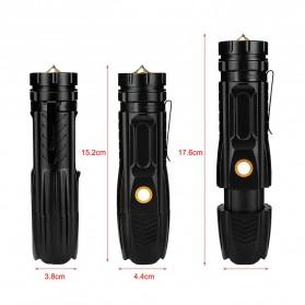 Linkax Senter LED Telescopic Zoom Flashlight P50 2000 Lumens - Lin50 - Black - 2