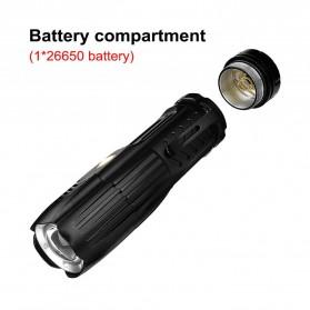 Linkax Senter LED Telescopic Zoom Flashlight P50 2000 Lumens - Lin50 - Black - 4