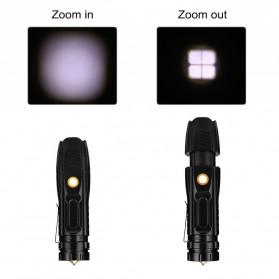 Linkax Senter LED Telescopic Zoom Flashlight P50 2000 Lumens - Lin50 - Black - 7