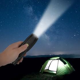 Linkax Senter LED Telescopic Zoom Flashlight P50 2000 Lumens - Lin50 - Black - 8