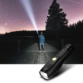 Linkax Senter LED Telescopic Zoom Flashlight P50 2000 Lumens - Lin50 - Black - 9