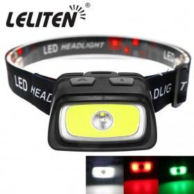 LELITEN Senter Kepala Headlamp Outdoor LED XPE+COB - LL6652 - Black